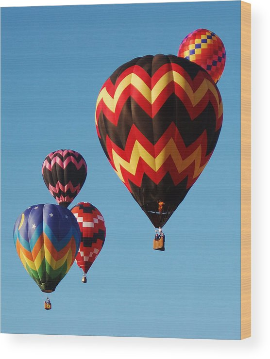 Balloon Wood Print featuring the photograph The Pack by Christina Young
