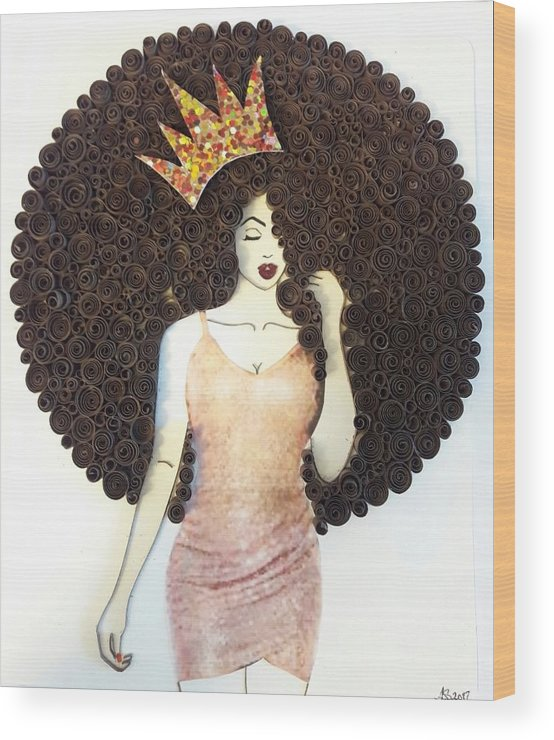 Wood Print featuring the mixed media Valencia by Quillqueen Andrea Stevens