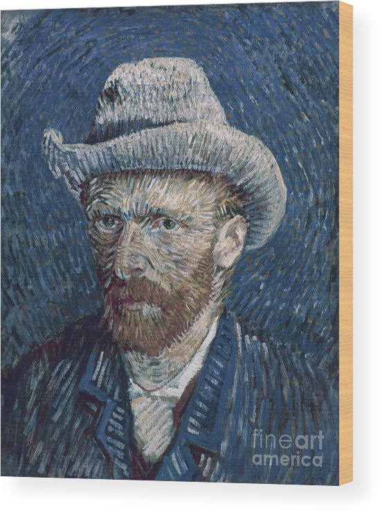 1887 Wood Print featuring the photograph Van Gogh: Self-portrait by Granger