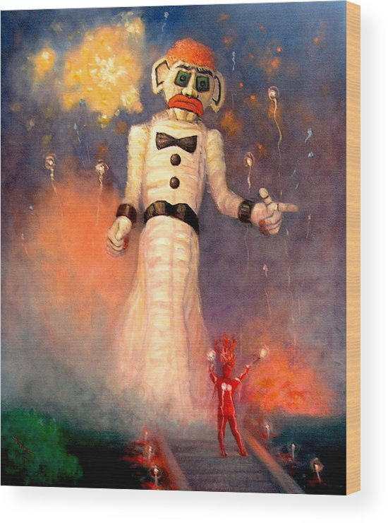 Realism Wood Print featuring the painting Zo-zobra by Donelli DiMaria