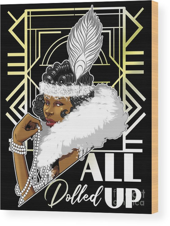 1920's Wood Print featuring the digital art All Dolled Up by Jay Reed