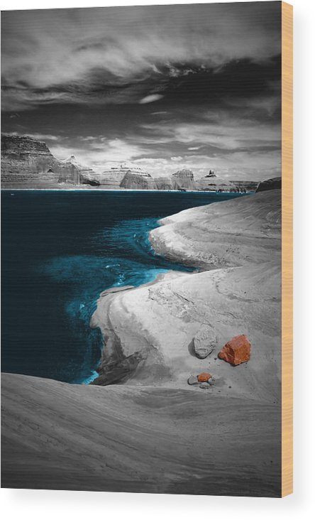 Photography Wood Print featuring the photograph Liquid Blue Inlets by Tom Fant