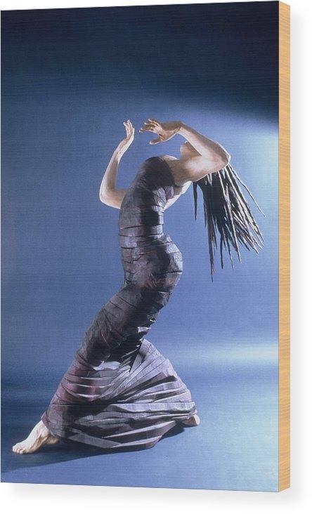 Dance Wood Print featuring the sculpture African Dancer Left View by Gordon Becker