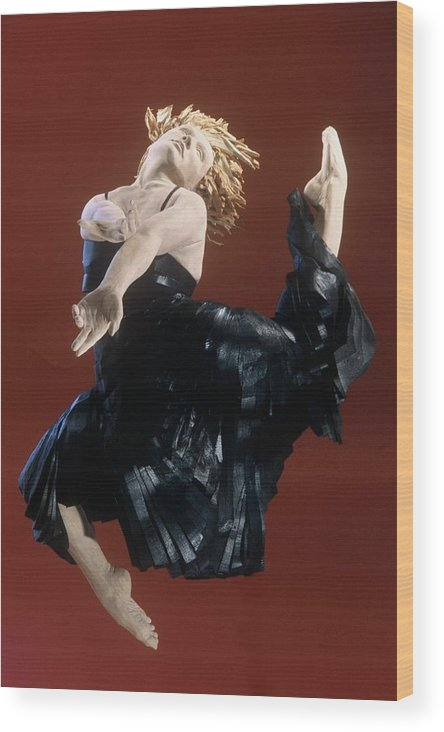 Dance Wood Print featuring the sculpture Persephones Dance Front View by Gordon Becker
