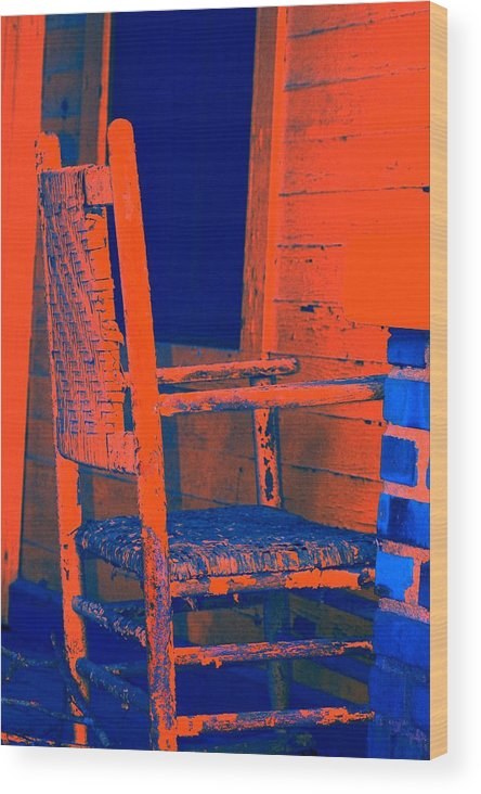 Chair Wood Print featuring the digital art Rocking Chair by Lisa Johnston