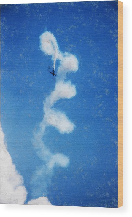 Chicago Wood Print featuring the digital art 0107 - Air Show - Acanthus by David Lange