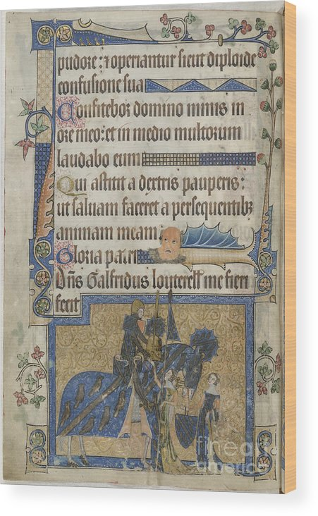 Armour Wood Print featuring the photograph Luttrell Psalter by British Library