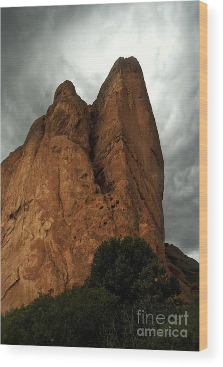 Colorado Wood Print featuring the photograph Angry Gods by Theresa Saxon
