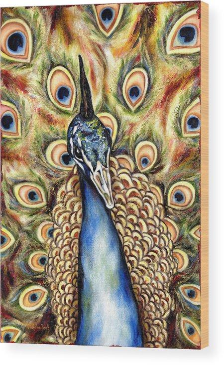 Bird Wood Print featuring the painting Applause by Hiroko Sakai