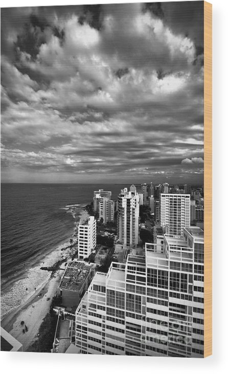 Balcony Wood Print featuring the photograph Beach Hotels San Juan Puerto Rico by Amy Cicconi