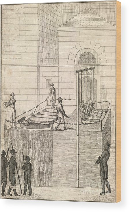 Cato Street Conspiracy Wood Print featuring the photograph Cato Street Conspiracy Executions, 1820 by British Library