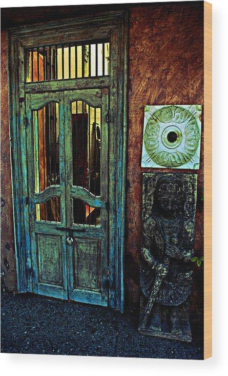 Door Wood Print featuring the photograph Door Guard by AR Harrington Photography