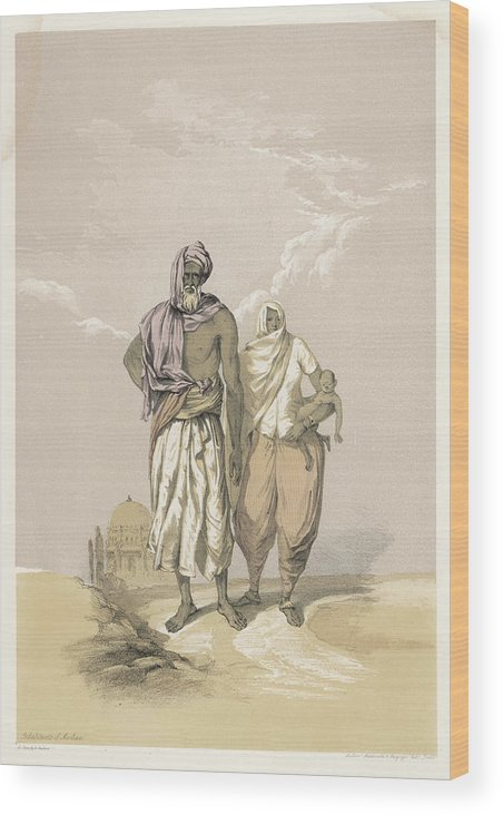 Racial Wood Print featuring the drawing Inhabitants Of Mooltan (aka Multan) - by Mary Evans Picture Library