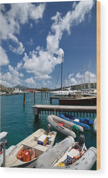 Boat Wood Print featuring the photograph Marina St Thomas Virgin Islands by Amy Cicconi