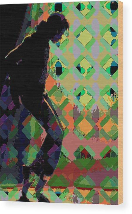 Michael Jackson Wood Print featuring the digital art Michael Jackson by Scott Davis