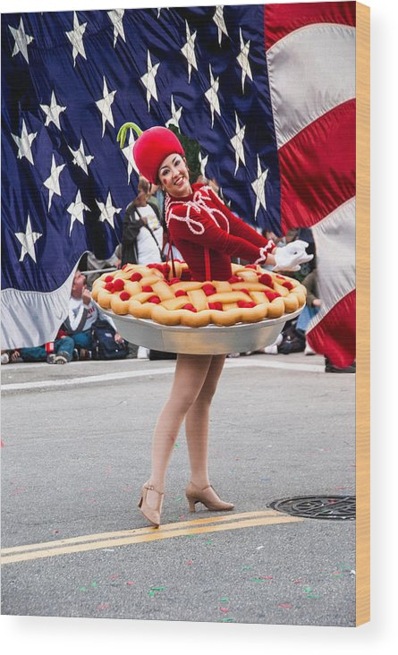 Parade Wood Print featuring the photograph Miss Fourth Of July by Errol Wilson