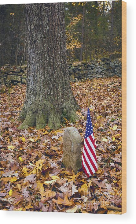 Cemetery Wood Print featuring the photograph Not Forgotten by Paul W Faust - Impressions of Light