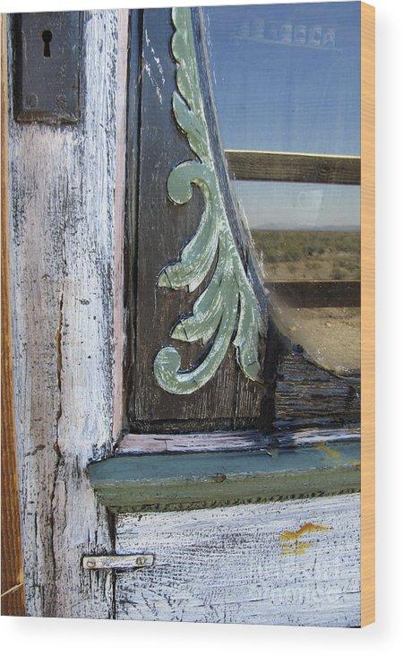 Door Wood Print featuring the photograph Old Door by Judy Bottler