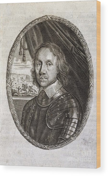 Olive Cromwell Wood Print featuring the photograph Oliver Cromwell, English Politician by British Library