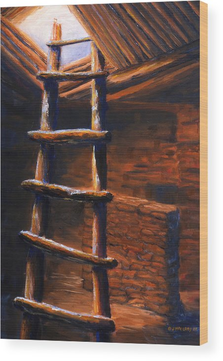 Anasazi Wood Print featuring the painting Passage by Jerry McElroy
