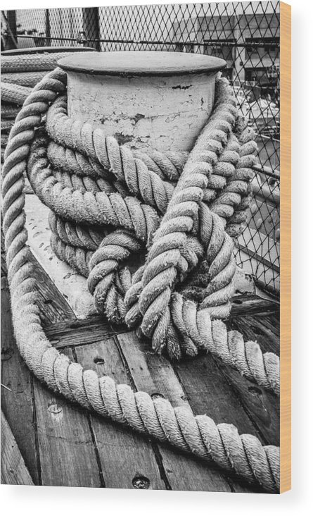 Rope Wood Print featuring the photograph Rope by AR Harrington Photography