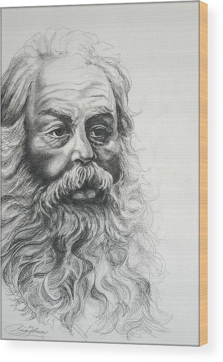 Christmas Wood Print featuring the drawing Saint Nicholas Of Compassion by Craig Gallaway