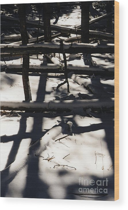 Table Mountain Wood Print featuring the photograph Shadows On Table Mountain by J L Woody Wooden