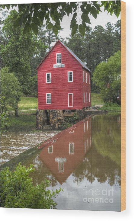 Starrs Mill Fayette County Georgia Wood Print featuring the photograph Starrs Mill by Corky Willis Atlanta Photography