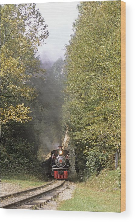 Locomotive Wood Print featuring the photograph Steam Train by Sally Mccrae Kuyper/science Photo Library