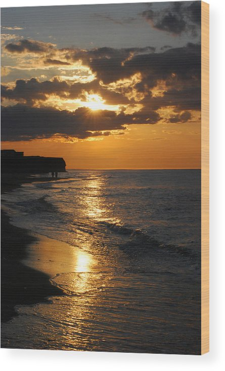Sunset Wood Print featuring the photograph Sunset by Jaron Wood