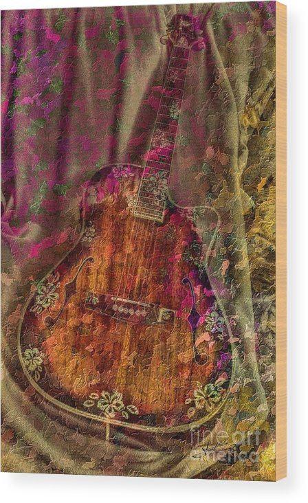 Acoustic Wood Print featuring the photograph The Art Of Music by Steven Lebron Langston