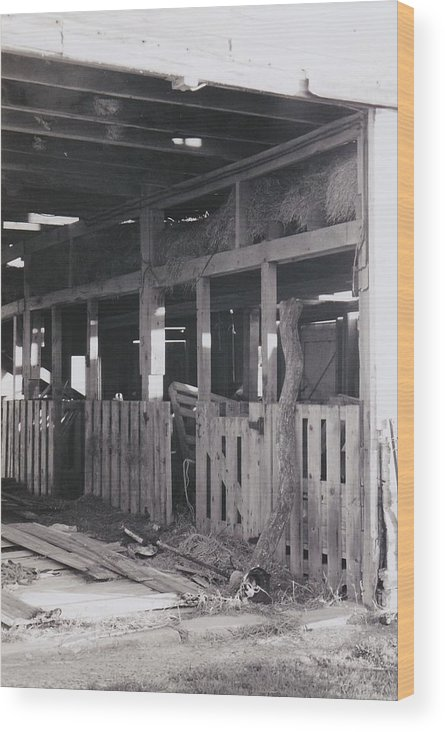 Barn Wood Print featuring the photograph The Forgotten Barn by Kassie Nelson