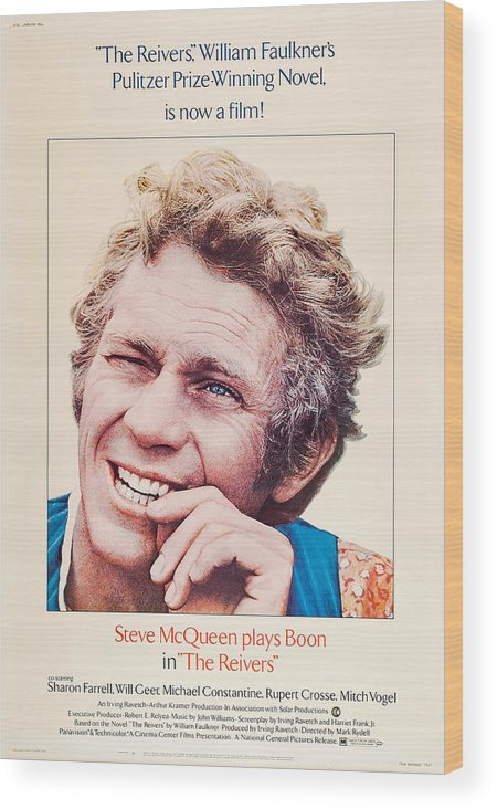1960s Movies Wood Print featuring the photograph The Reivers, Us Poster, Steve Mcqueen by Everett