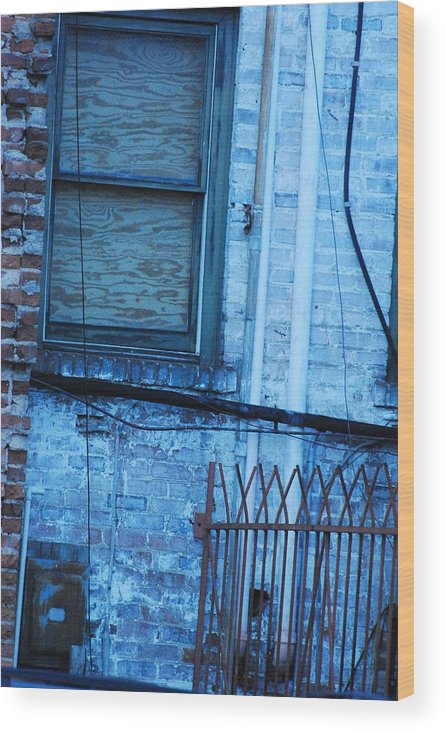 Urban Decay Wood Print featuring the photograph Time Passed by Tiffany Tunno