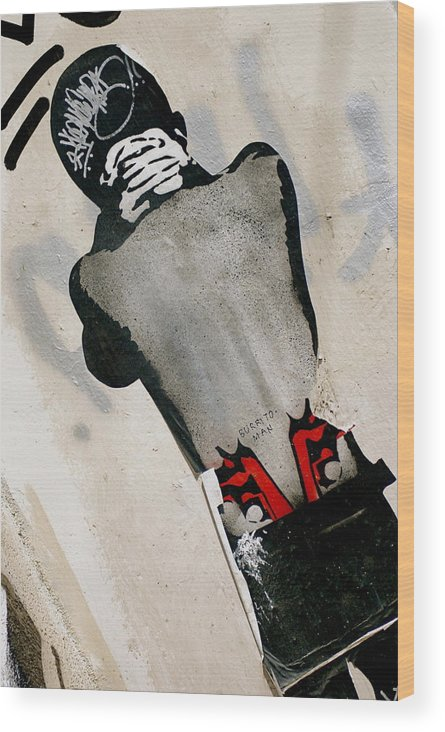 Street Art Wood Print featuring the photograph Troubled Cool by Marc Levine