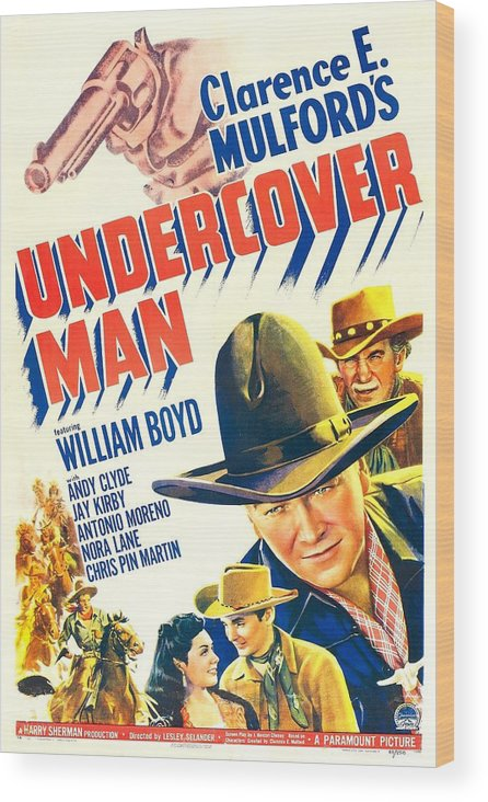 1940s Movies Wood Print featuring the photograph Undercover Man, Us Poster, Bottom by Everett