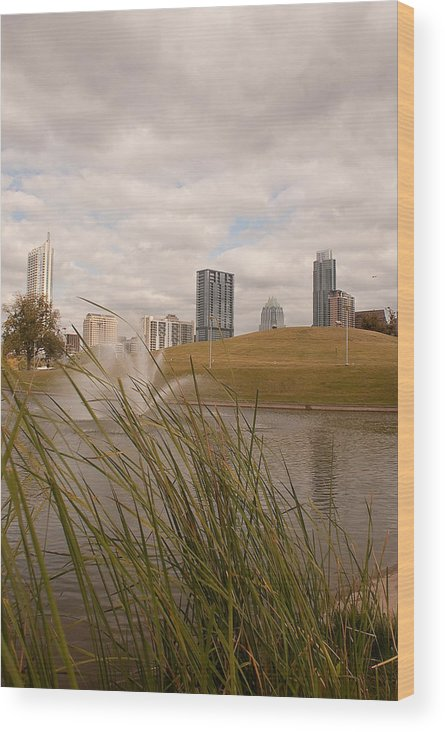 Austin Texas Wood Print featuring the photograph Austin Texas Skyline by Andy Blake