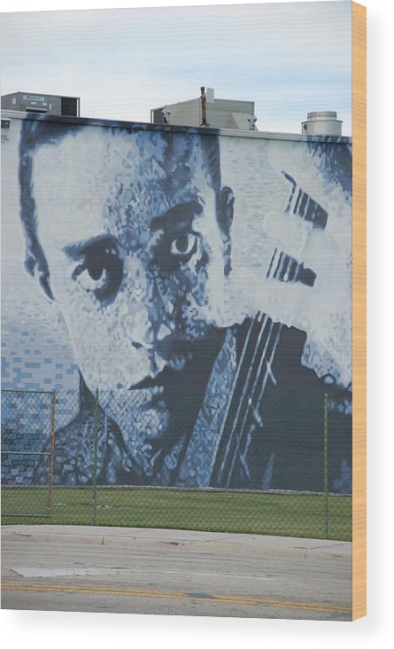 Johnny Cash Wood Print featuring the photograph Johnny Cash by Rob Hans