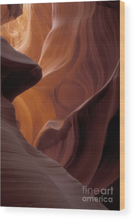 Bronstein Wood Print featuring the photograph Lower Antelope Canyon by Sandra Bronstein
