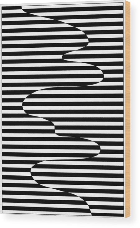 Op Art Wood Print featuring the drawing Untitled 17 by Joanna Potratz