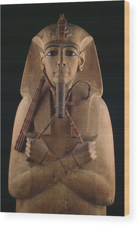 Africa Wood Print featuring the photograph A Wooden Coffin Case Of The Pharaoh by O. Louis Mazzatenta