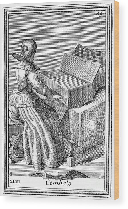 1723 Wood Print featuring the photograph Harpsichord, 1723 by Granger