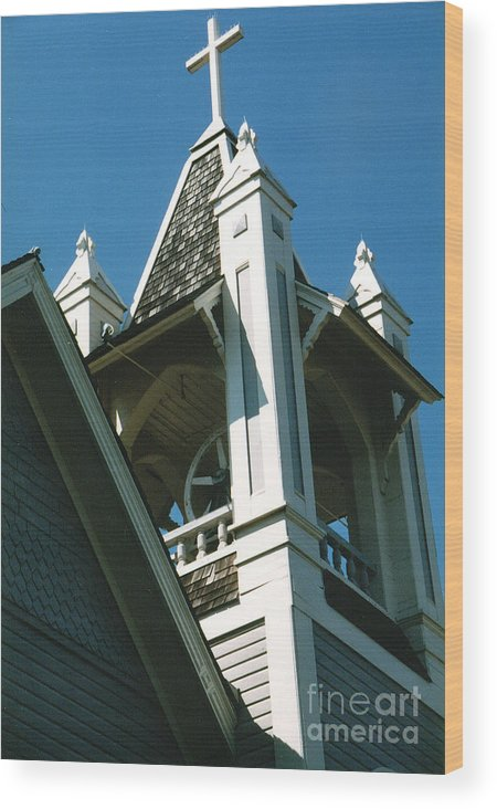 Church Wood Print featuring the photograph Just The Steeple by Bruce Borthwick
