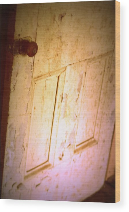Door Wood Print featuring the photograph Open And Shut by Rachel Porostosky