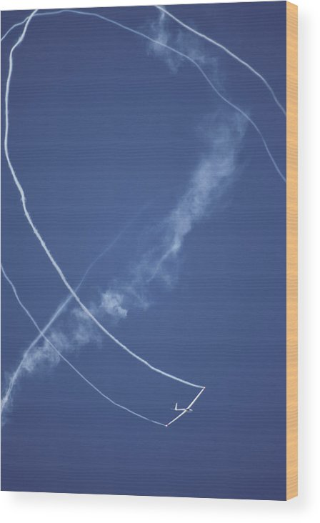 Stunt Flying Wood Print featuring the photograph Salto Stunt Glider Doing A Loop Whilst by Jason Edwards
