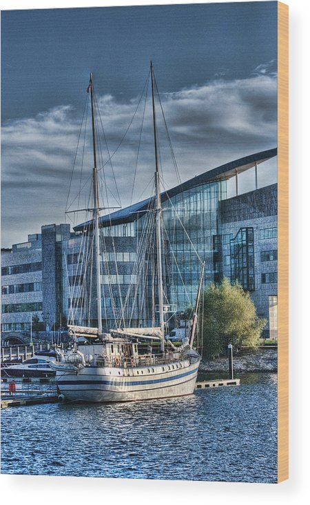 Next Wave Wood Print featuring the photograph Schooner 2 by Steve Purnell