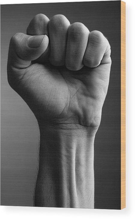 Power Wood Print featuring the photograph The Fist by Matusciac Alexandru
