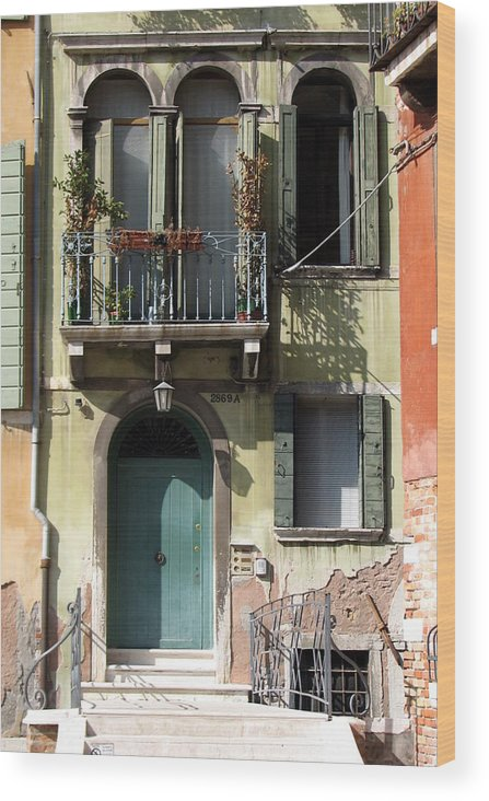 Venice Wood Print featuring the photograph Venetian Doorway by Carla Parris