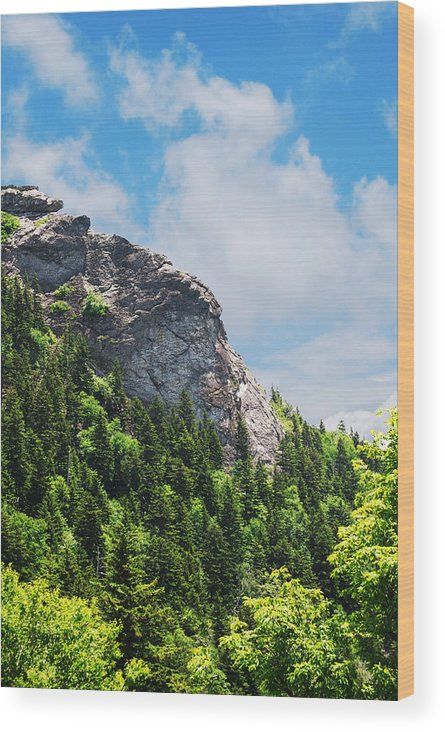 Rock Wood Print featuring the photograph Devil's Courthouse Blue Ridge Mountains by Patricia Motley