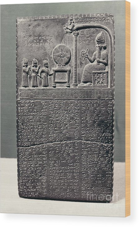 800 B.c. Wood Print featuring the photograph Cuneiform by Granger